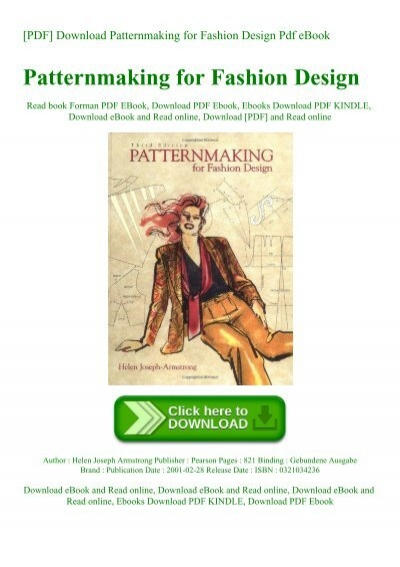 Pdf Download Patternmaking For Fashion Design Pdf Ebook