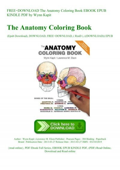 FREE~DOWNLOAD The Anatomy Coloring Book EBOOK EPUB KINDLE PDF By Wynn Kapit