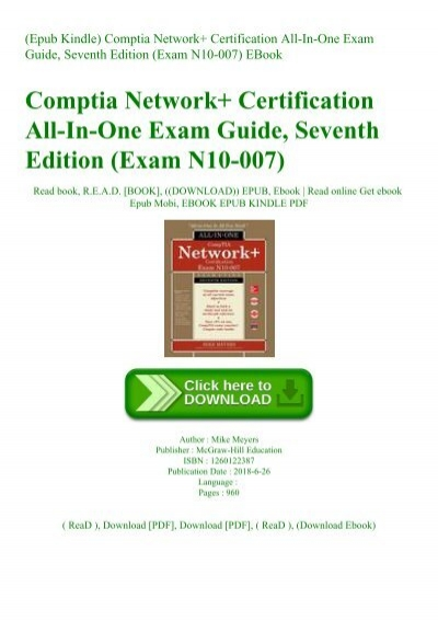 Exam N10-007 Certification All-in-One Exam Guide Seventh Edition CompTIA Network