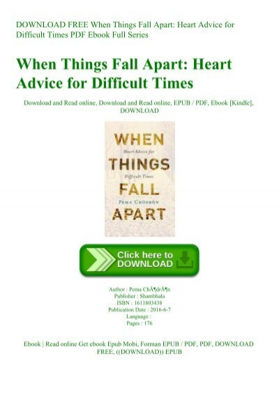 when things fall apart pdf free download
