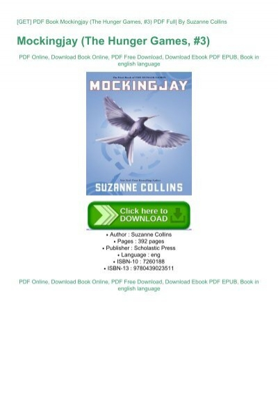 Download Mockingjay The Hunger Games 3 By Suzanne Collins