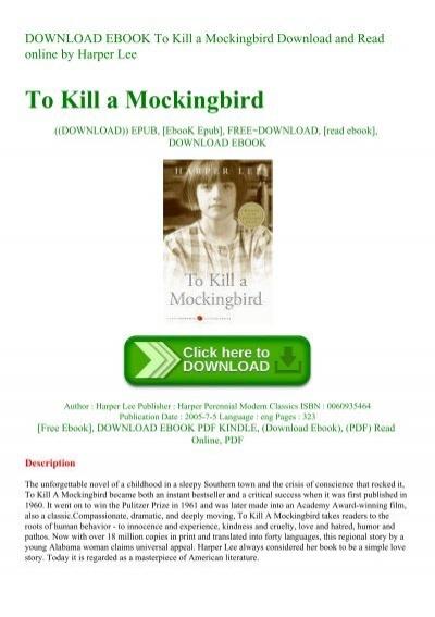 Download to kill a mockingbird bahasa indonesia pdf file pdf