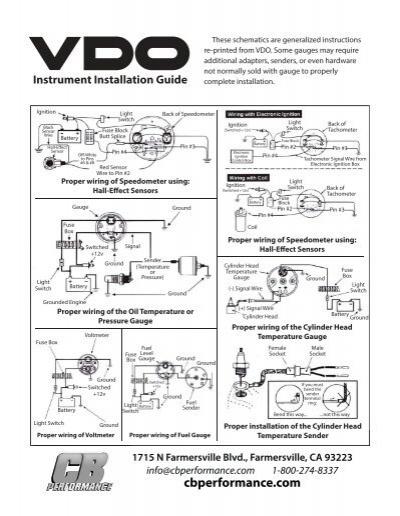 vdo cht gauge wiring diagram vdogeneralizedinstallationguides  vdogeneralizedinstallationguides
