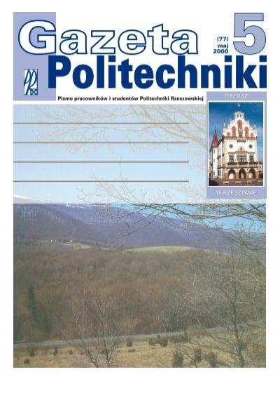 Nr 5 Rok 2000 Politechnika Rzeszowska