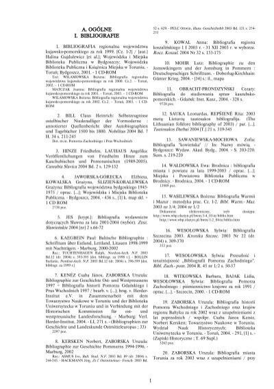 A Ogólne I Bibliografie 1 Uniwersytet Mikołaja Kopernika