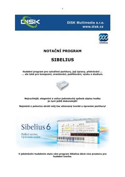 Sibelius obecně (PDF, česky) - DISK Multimedia